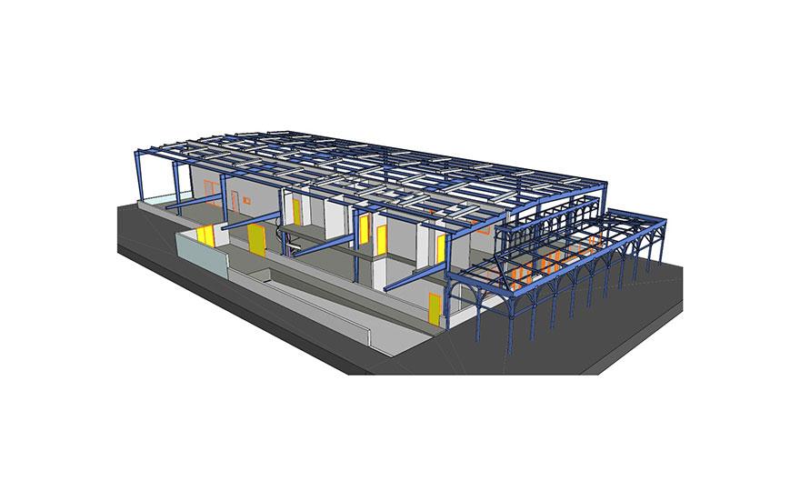 Projets de modélisation BiM - Charpente métallique.