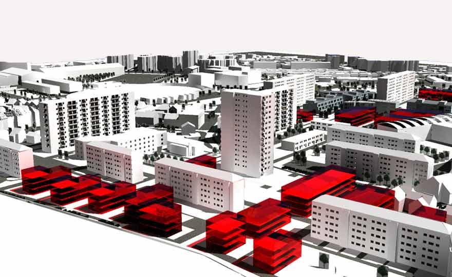 Projets Urbanisme - Maquette de la ville.