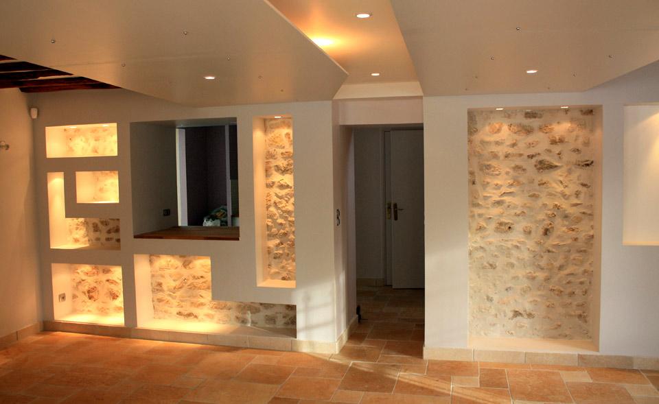Projet rénovation du logement de type pavillon d'habitation.