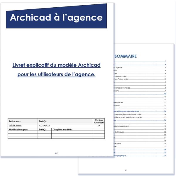 Livret explicatif du modèle Archicad.