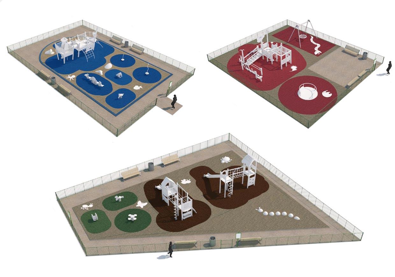 Maquette 3D des équipements collectifs.
