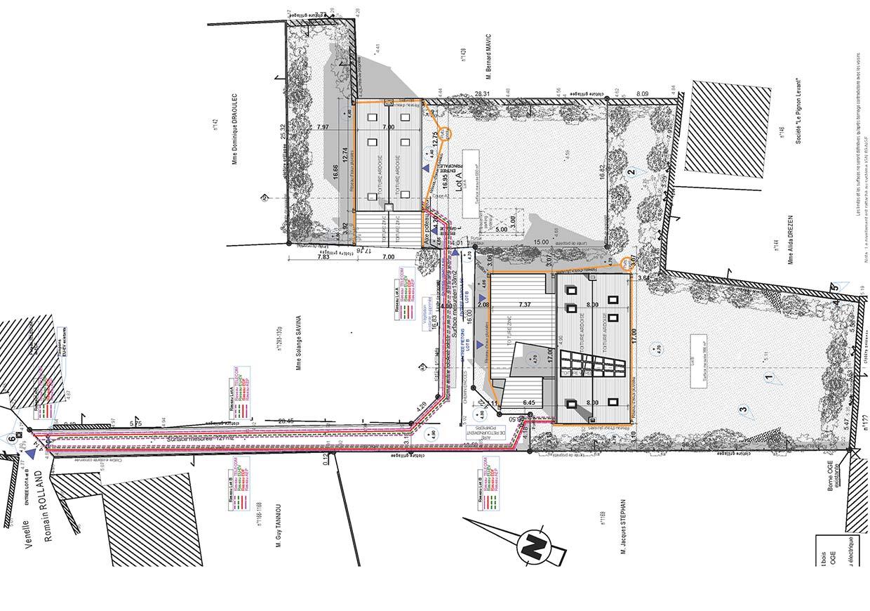 Plan de masse de la maison.