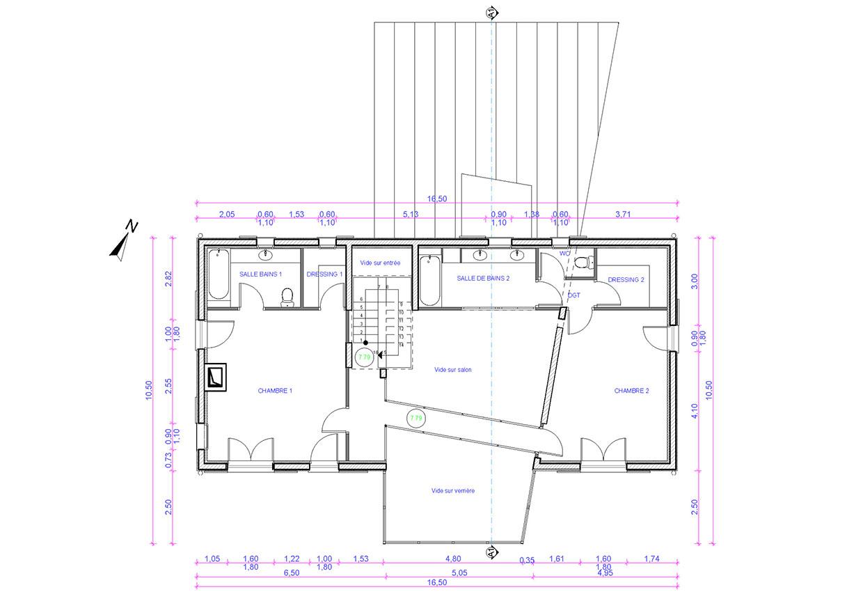 Plan du 1er étage du pavillon.