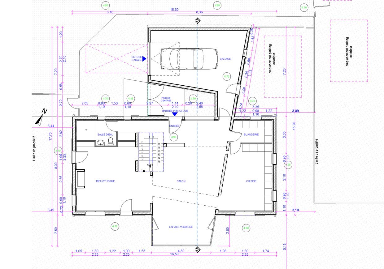 Plan du pavillon.