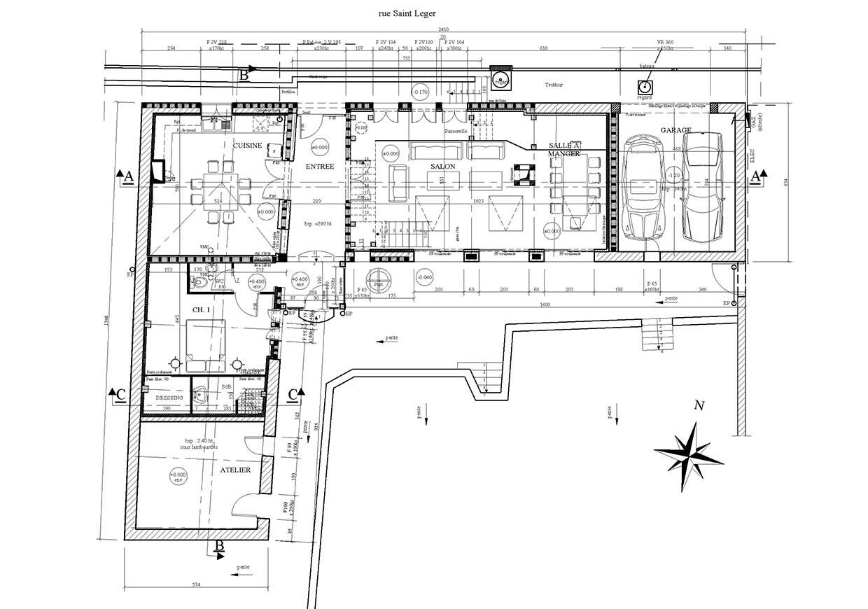 Plan de rénovation de la maison.